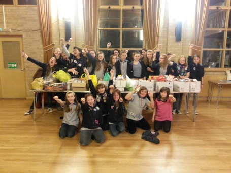 2nd Belper Guides helped out with H4B's Basic Idea food bank